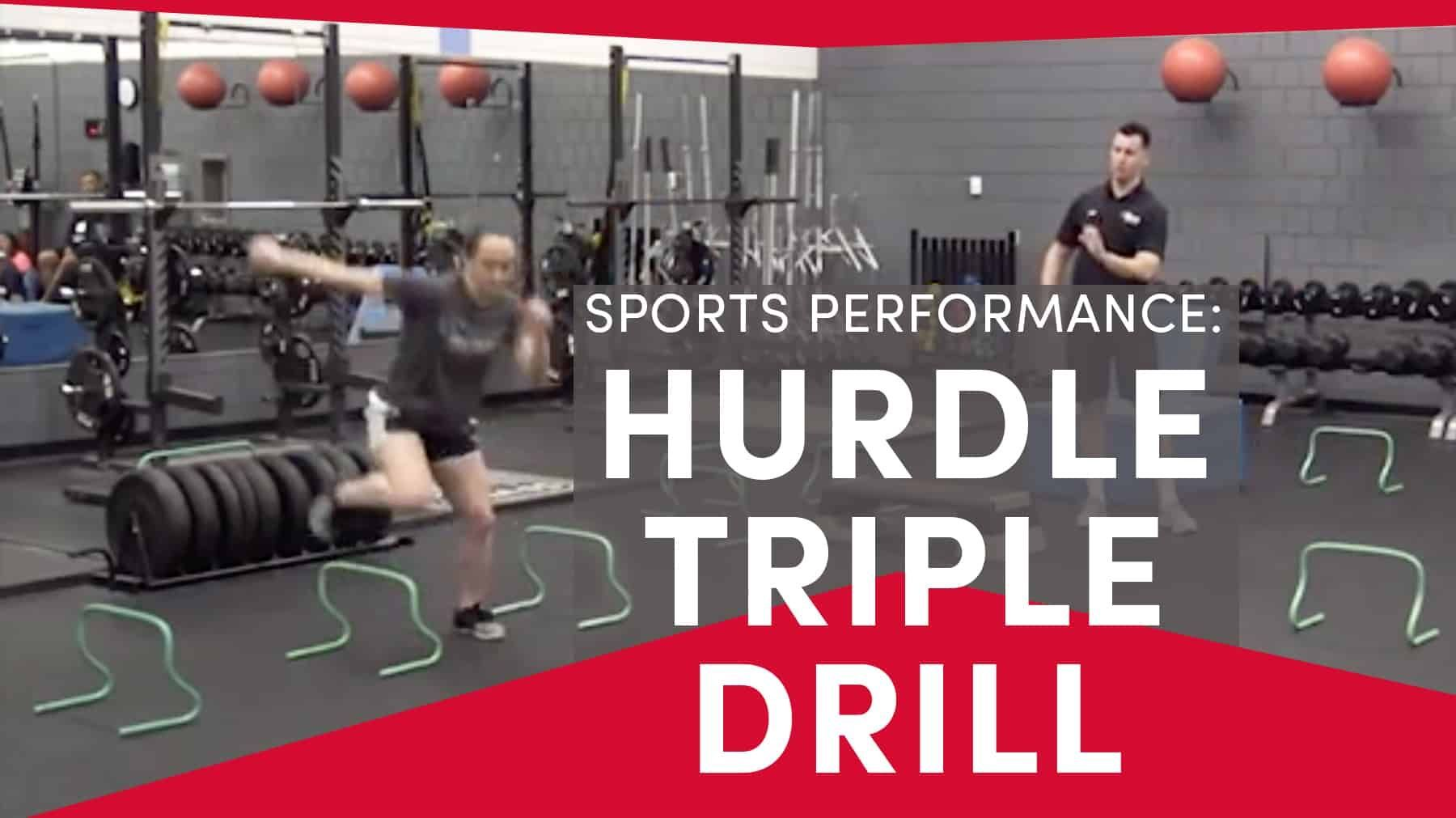 Sports Performance Hurdle Triple Drill With Images Coaching Volleyball Sport Performance Volleyball Conditioning