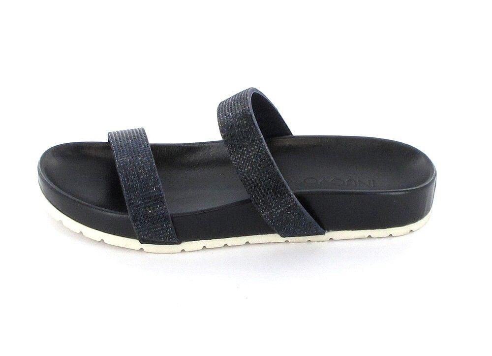Inuovo Lale - Damen Pantoletten mit Fußbett und blauen Strassteinen