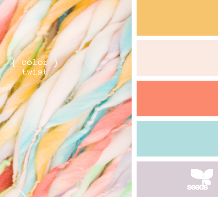 Romantic girly fresh color pattern