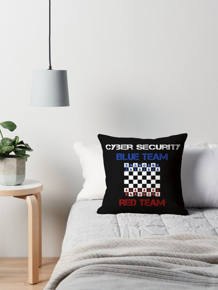 Cyber Security Schach Red Team Blue Team Throw Pillow