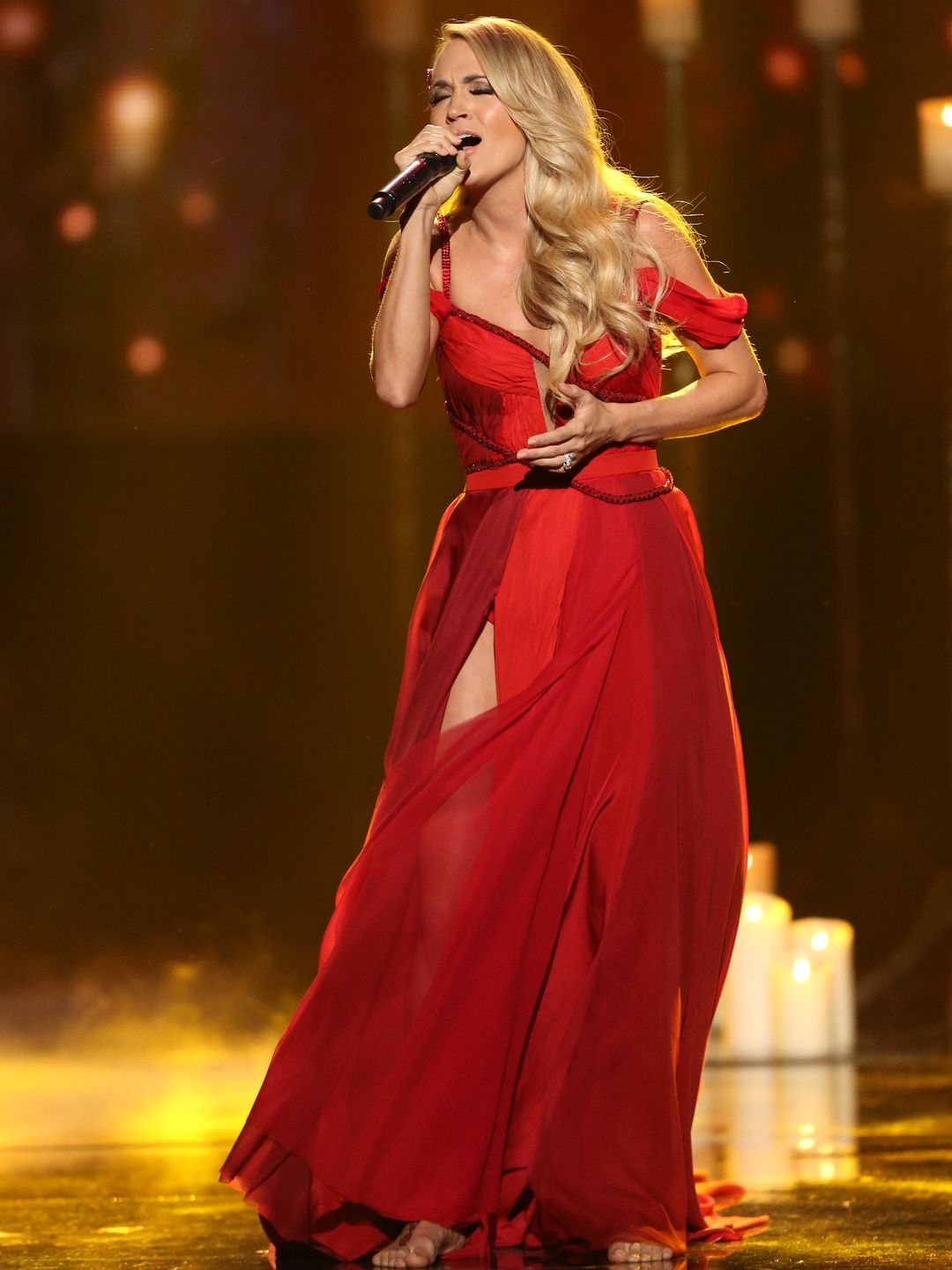Carrie Underwood performs at the American Music Awards.  Matt Sayles, Invision via AP