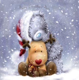 WWW.FUNKYPIGEON.COM - PERSONALISED Card - Me to You Softly Drawn - Christmas Rudolph