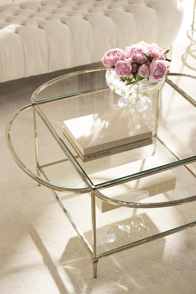 Manhattan Cocktail Caracole Circles Meet Squares And Angles Meet Curves In This Eye Stopping Cockt Coffee Table Glass Top Coffee Table Coffee Table Setting [ 1199 x 800 Pixel ]