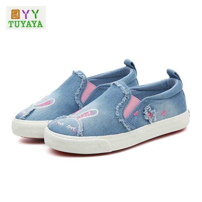 Kids Shoes for Girl Children Canvas Shoes Boys Sneakers 2017 Spring Girls  Jeans Denim Flat Boots Fashion Children Trainers Shoes fdce8eb4aa4