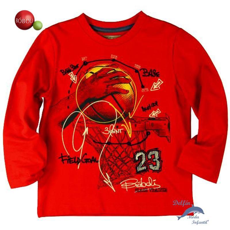 Camiseta Ni 241 O Juvenil Boboli Manga Larga Quot Basket Quot Boboli