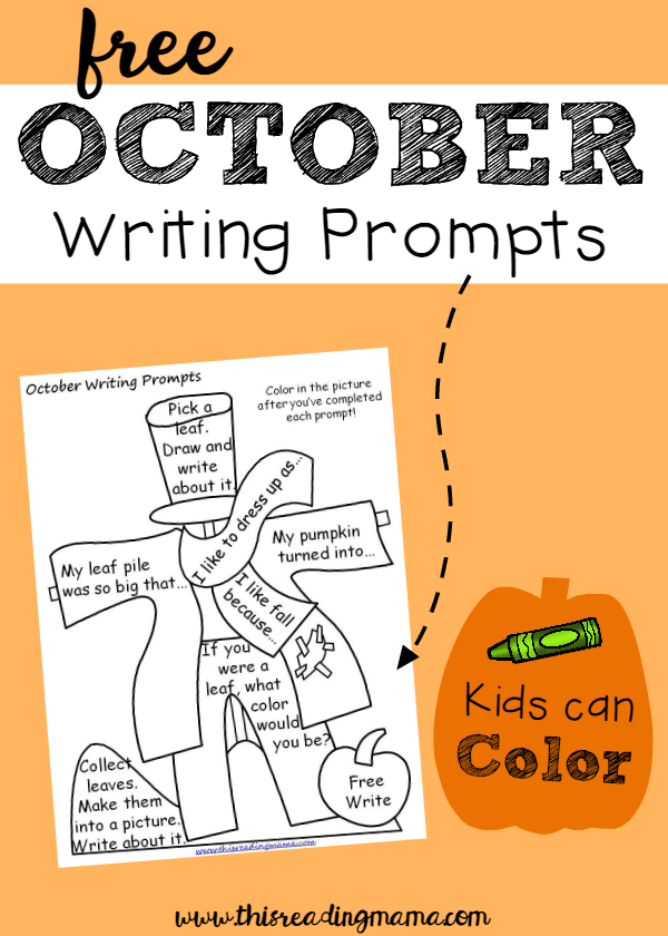 writing prompts for october This october pack includes seasonal prompts for community helper, spider, bat, monster, and halloween themes as well as some general nonseasonal prompts.