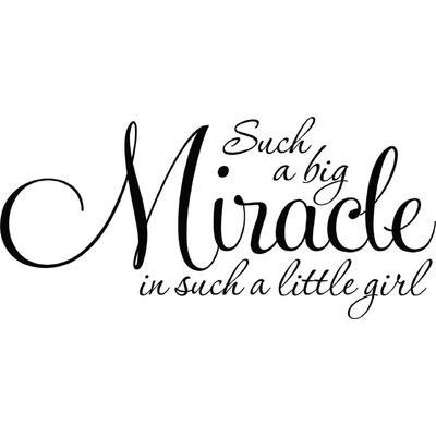 Design With Vinyl Miracle Wall Decal #quotesaboutlittleboys
