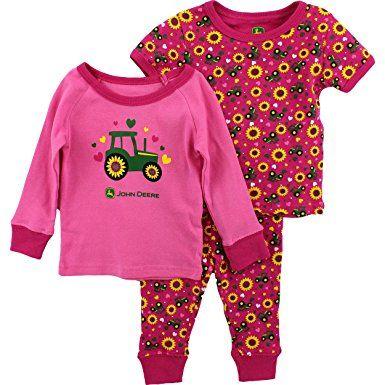 9a92eff16fd2 John Deere Toddler and Girls 3 pc Pajamas Set