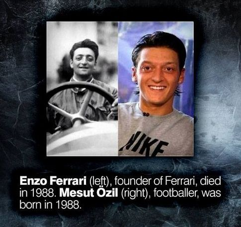 What Are Some Amazing Coincidences In The World Quora Ferrari Mesut Ozil Unbelievable Facts