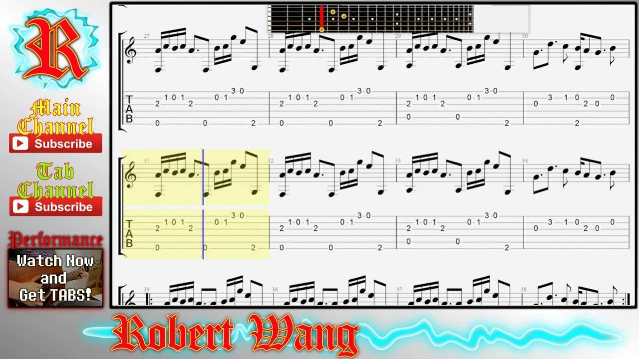 Undertale Ost Bergentruckung Asgore Fingerstyle Guitar Tabs