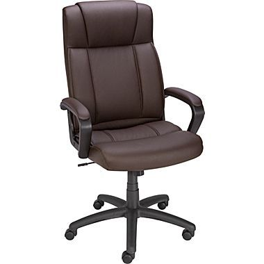 Staples Sidley Luxura Executive High Back Chair Brown Home