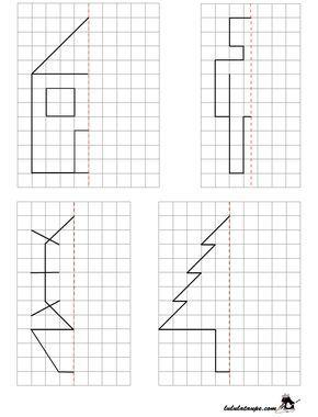 reproduire un dessin par sym trie axiale sur quadrillage simetrias pinterest quadrillage. Black Bedroom Furniture Sets. Home Design Ideas