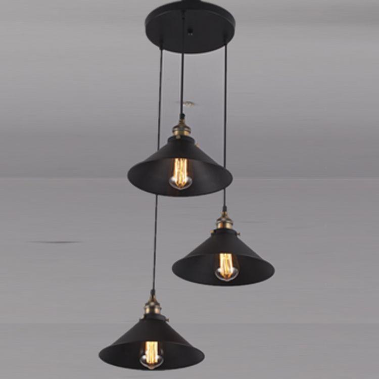 American Country Style,Round Shape,Decorative,Metal Pendant Light - leuchten wohnzimmer landhausstil