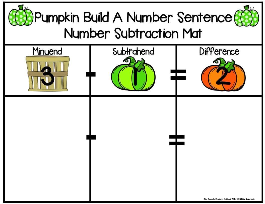 Pumpkin Build 2 Addend 0 20 Addition Amp Subtraction Number