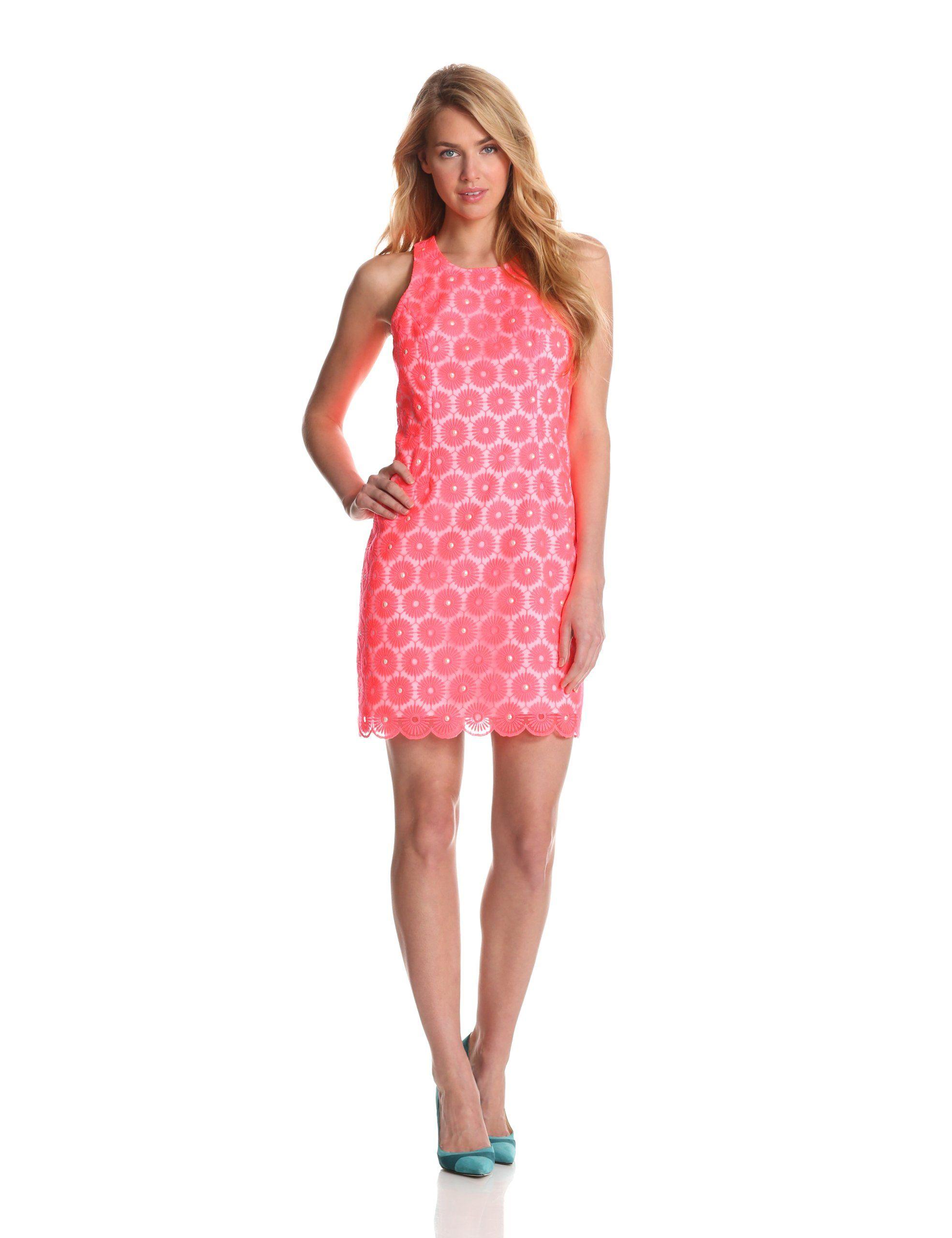 Lilly Pulitzer Women\'s Pearl Dress, Fiesta Pink, 8 | Amazon.com ...