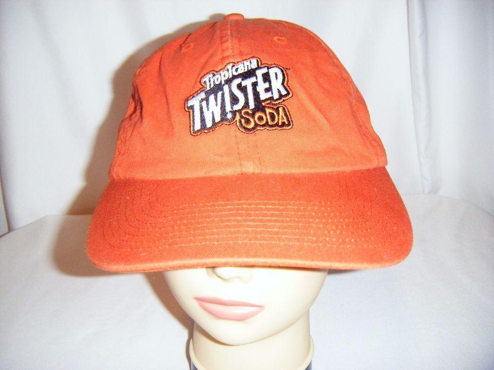 c194c4f1898 VTG 1990 s Tropicana Twister Soda adult orange baseball hat cap OSFA sewn  logo  KNP  BaseballCap
