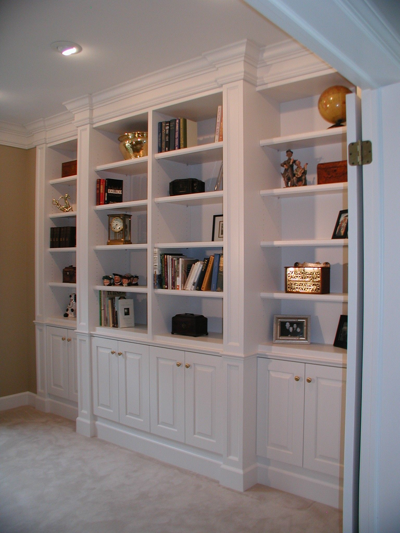 Built-In Bookcase Around Fireplace Plans