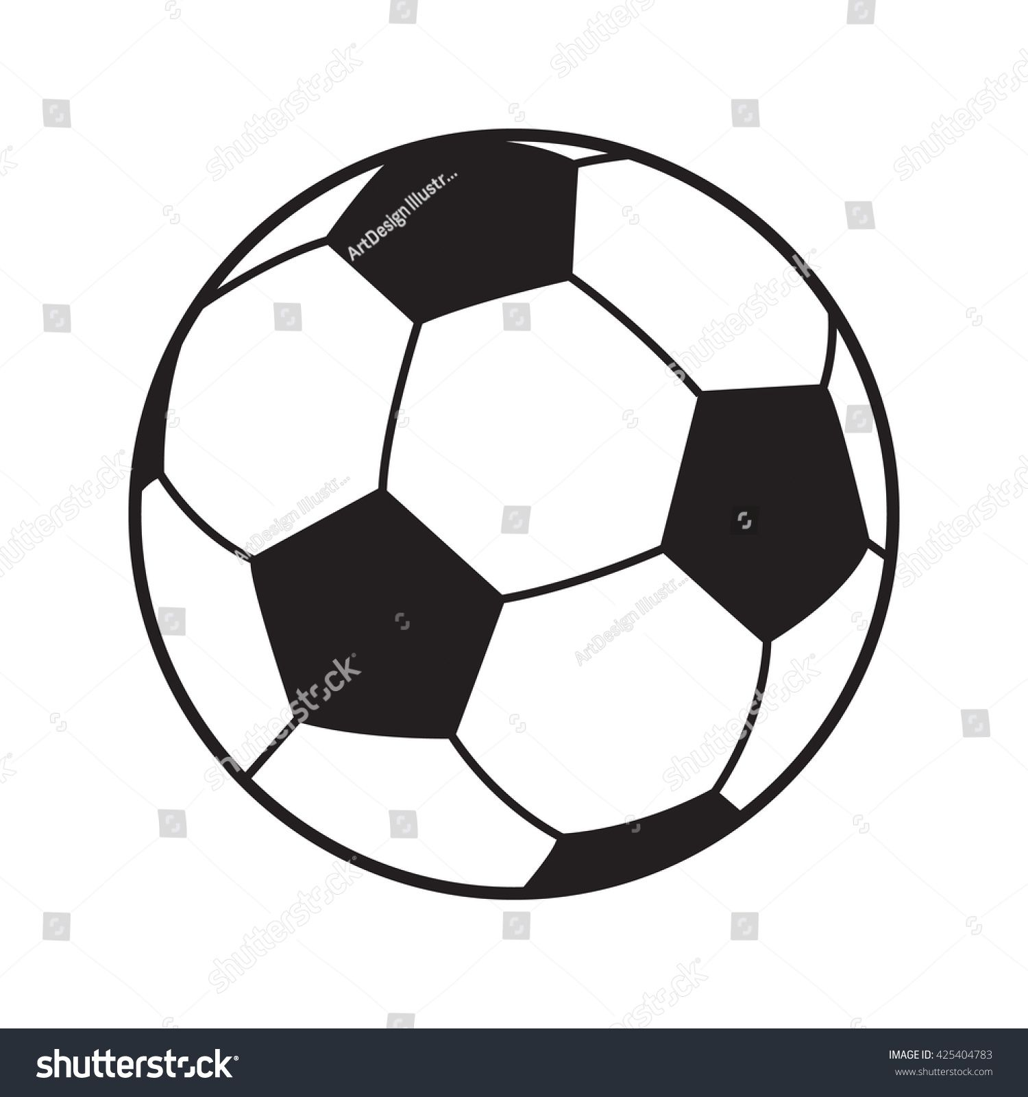 Soccer Ball Icon Soccer Ball Isolated On White Background Logo Vector Illustration Football Sports Symbol Championship Socce Soccer Ball Soccer Vector Logo