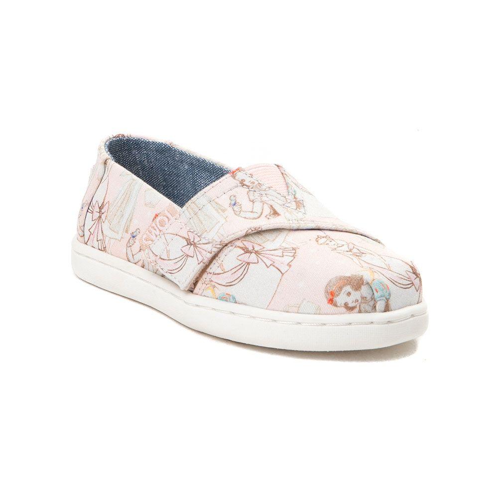 f0116f13241 Toddler TOMS Disney Princess Classic Slip On Casual Shoe - Light Pink -  99350978