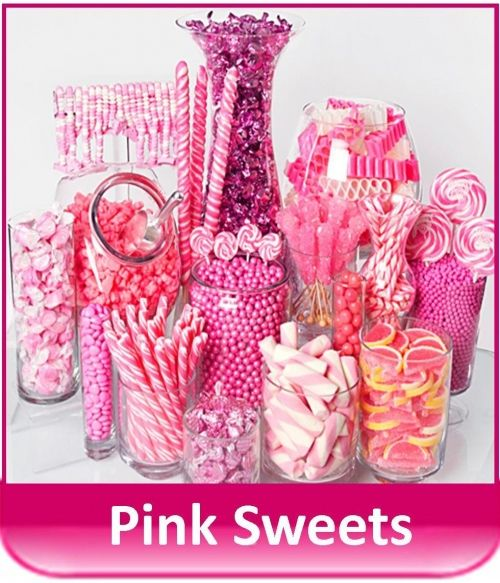 The Pink Sweet Shop Pink Candy Bar Pink Candy Candy Station Wedding
