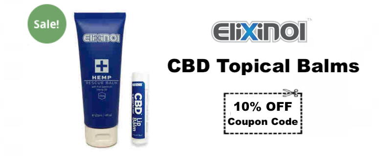 10% OFF Elixinol Coupon Code for CBD Hemp Balms #elixinol