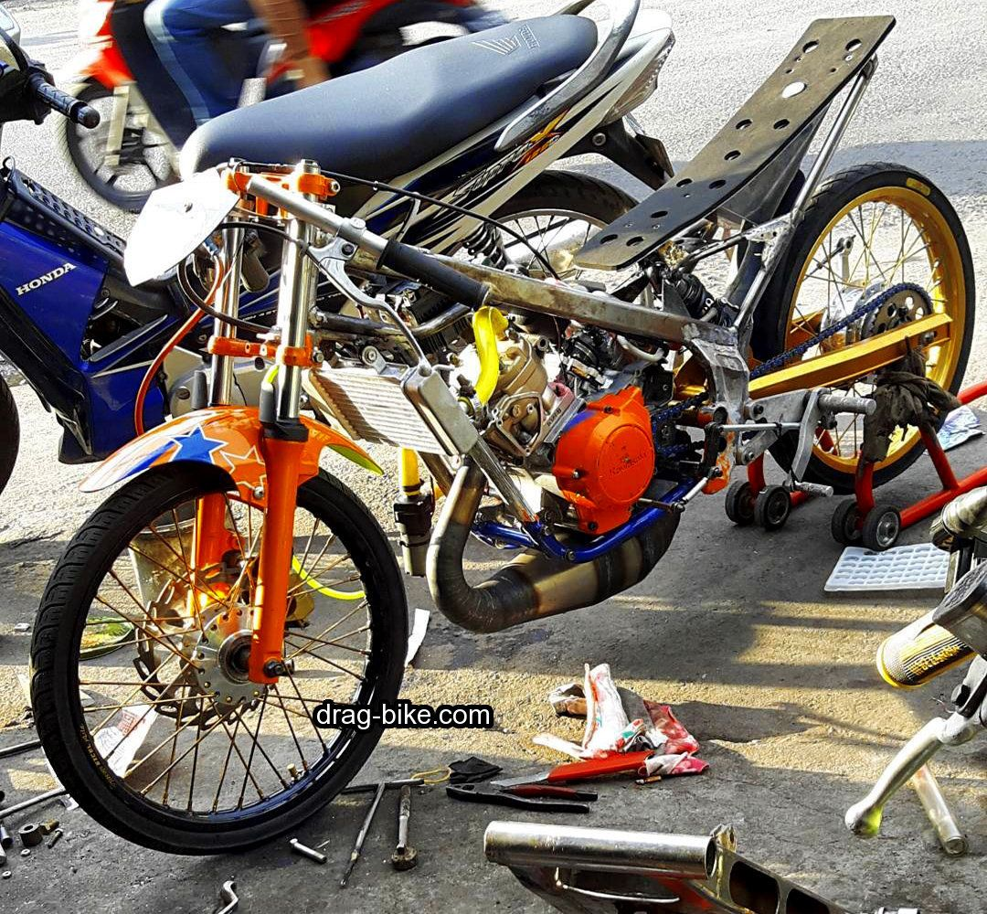 Foto Drag Bike Ninja R Modifikasi Mothai Thailook Style Gambar
