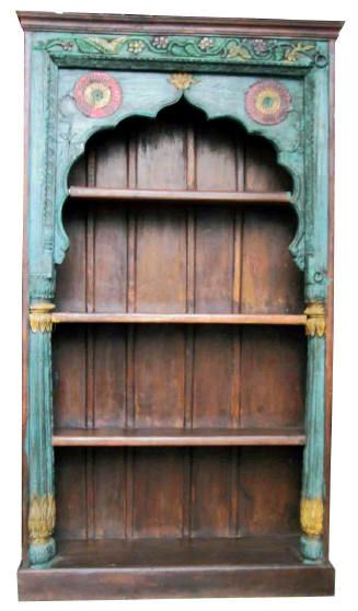 Painted Indian bookshelf | Eclectic furniture, Indian home ...