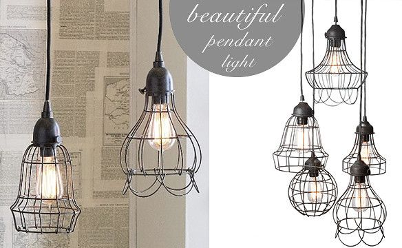 Rustic Wire Cage Industrial Pendant Ceiling Light | Pendant lighting ...