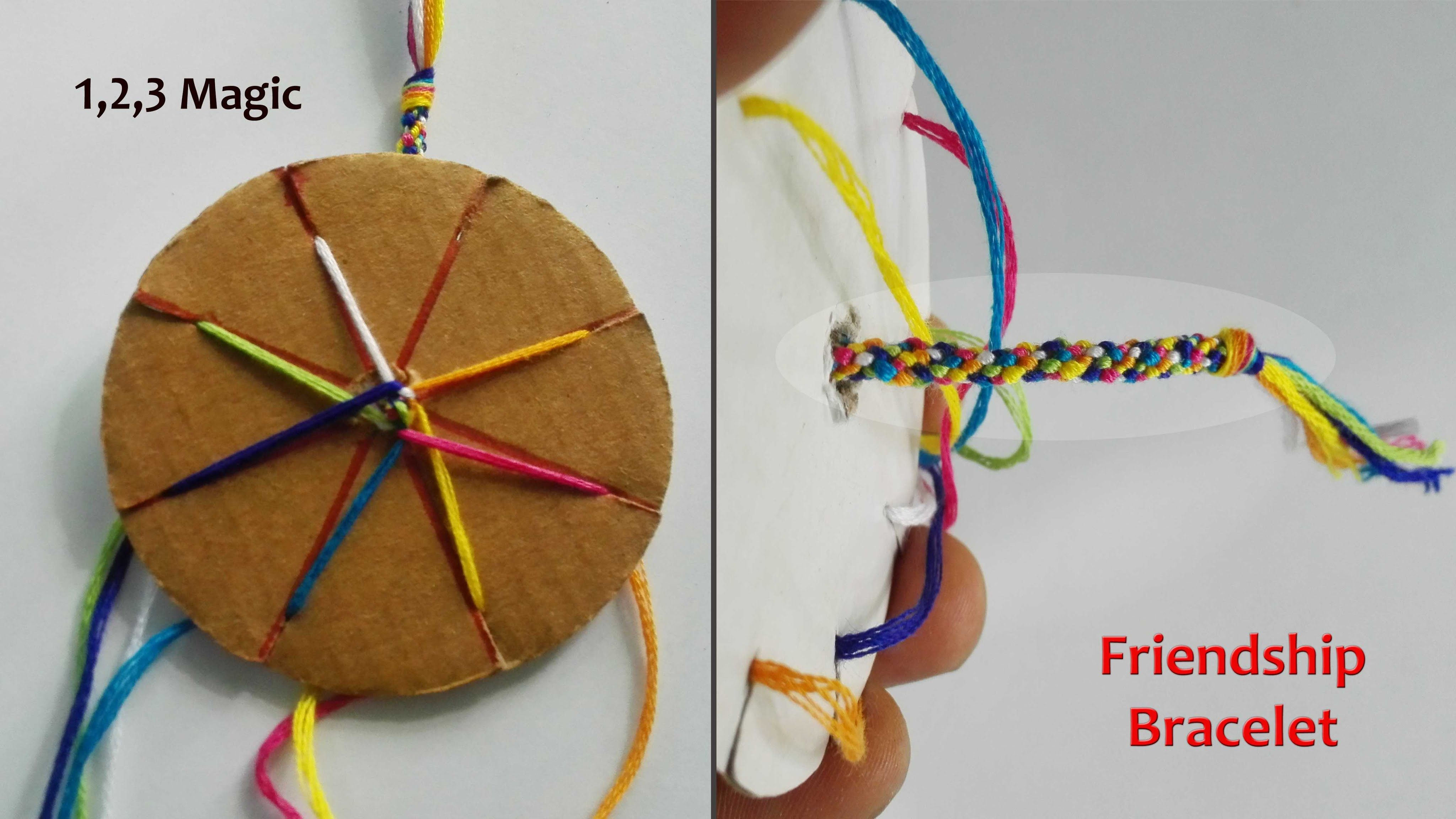 How to make a friendship bracelet with a cardboard loom #easyfriendshipbraceletpatterns