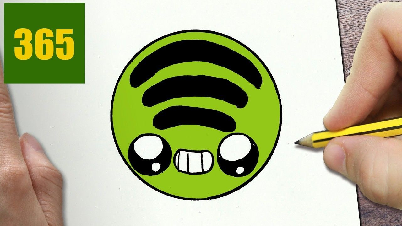How to draw a spotify logo cute easy step by step drawing lessons for kids