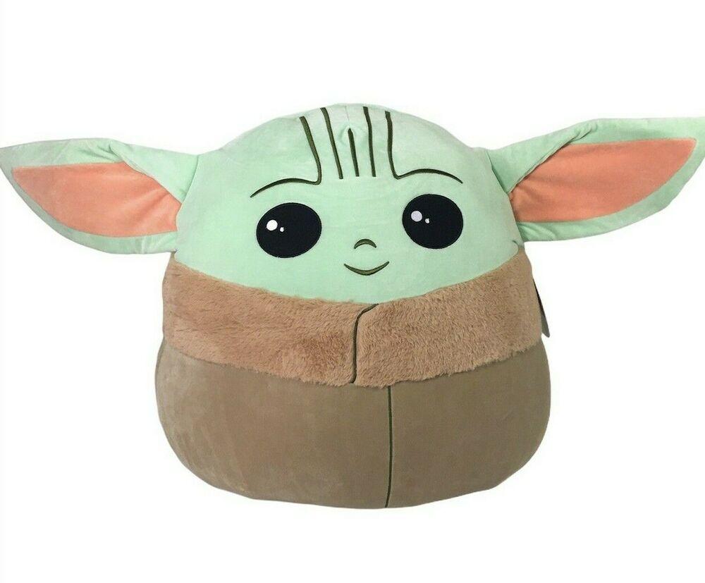 Squishmallow Star Wars Mandalorian The Child Baby Yoda Jumbo 20 Stuffed Plush Ebay Star Wars Backpack Art Dolls Handmade Star Wars Baby