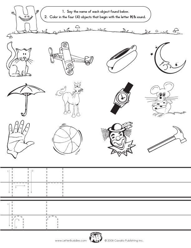 Initial Sounds Worksheet H alphabet ideas – Letter H Worksheet