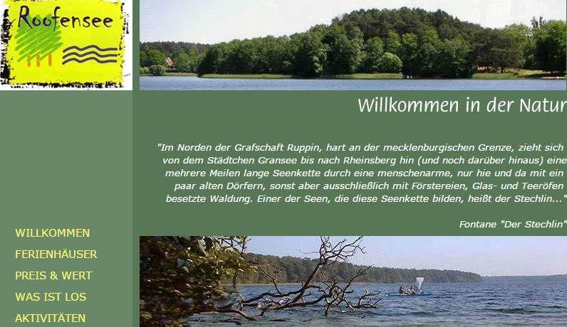 16775 Stechlin Brandenburg Ferienhauser Im Naturpark Stechlin Saison C Bis 02 07 28 08 2016 Urlaub Urlaub In Deutschland Urlaub Ferien