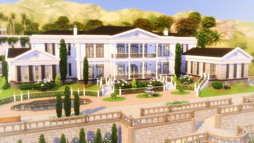 10 The Sims 4 Mansions That Are Too Unreal Game Rant In 2020 Sims Mansions Sims 4 House Design