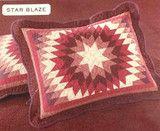 Martha Stewart Star Blaze Quilted Standard Pillow Sham Red