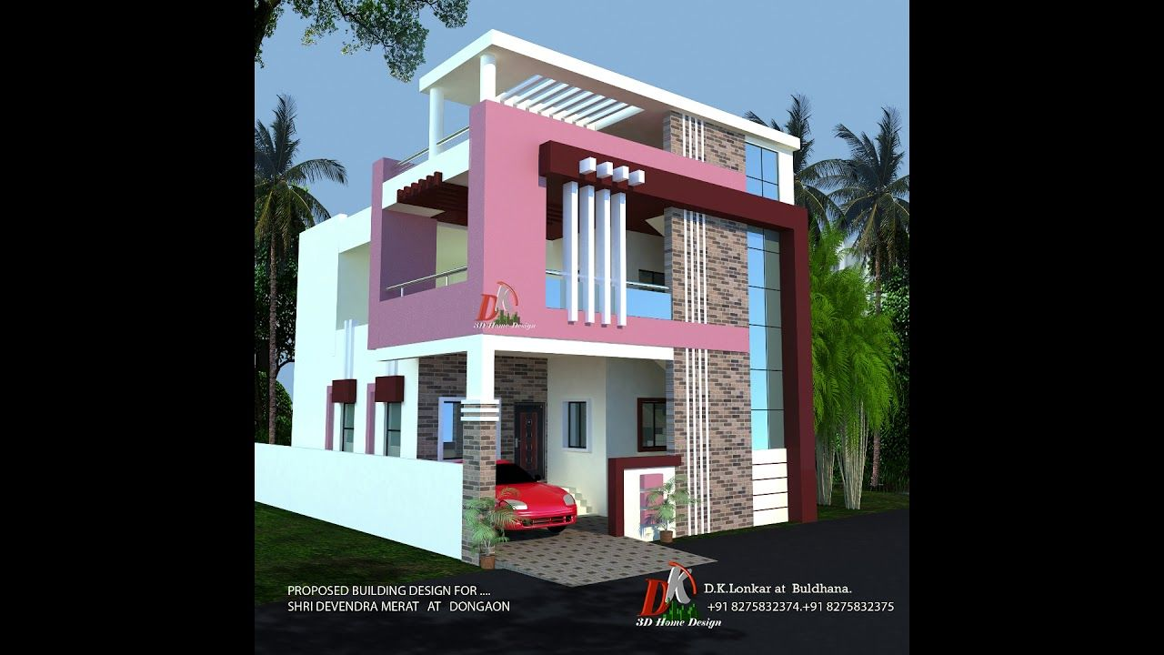 33x50 Ft House Plan And 3d Front Elevation Cool House Designs House Design House Front Design