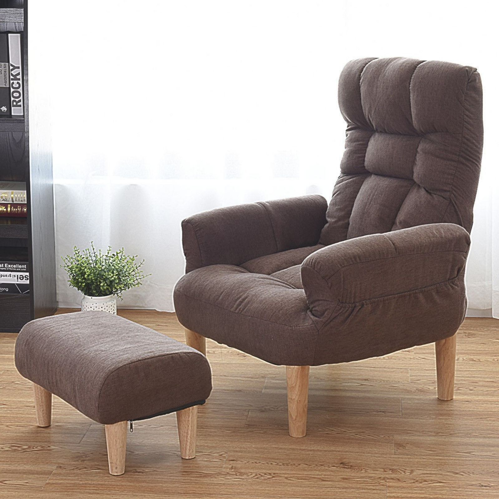 Recliner Lounge Chair Lazy Sofa Chairs With Ottoman Seat