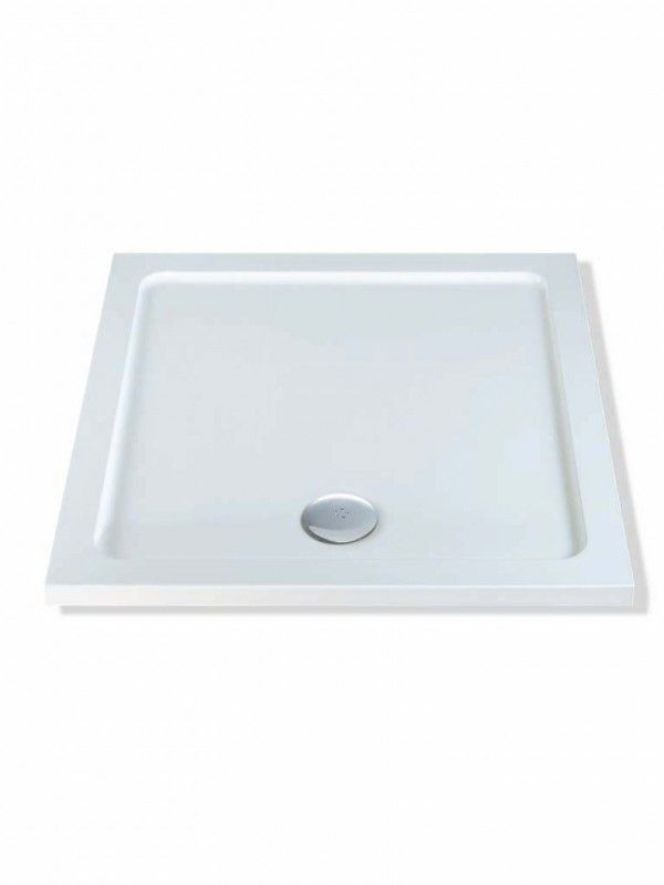 1100mm x 1100mm Square Shower Tray Acrylic capped resin Strong and ...