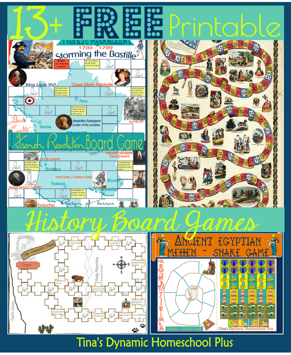 13 Free Printable History Board Games (Homeschool History ...