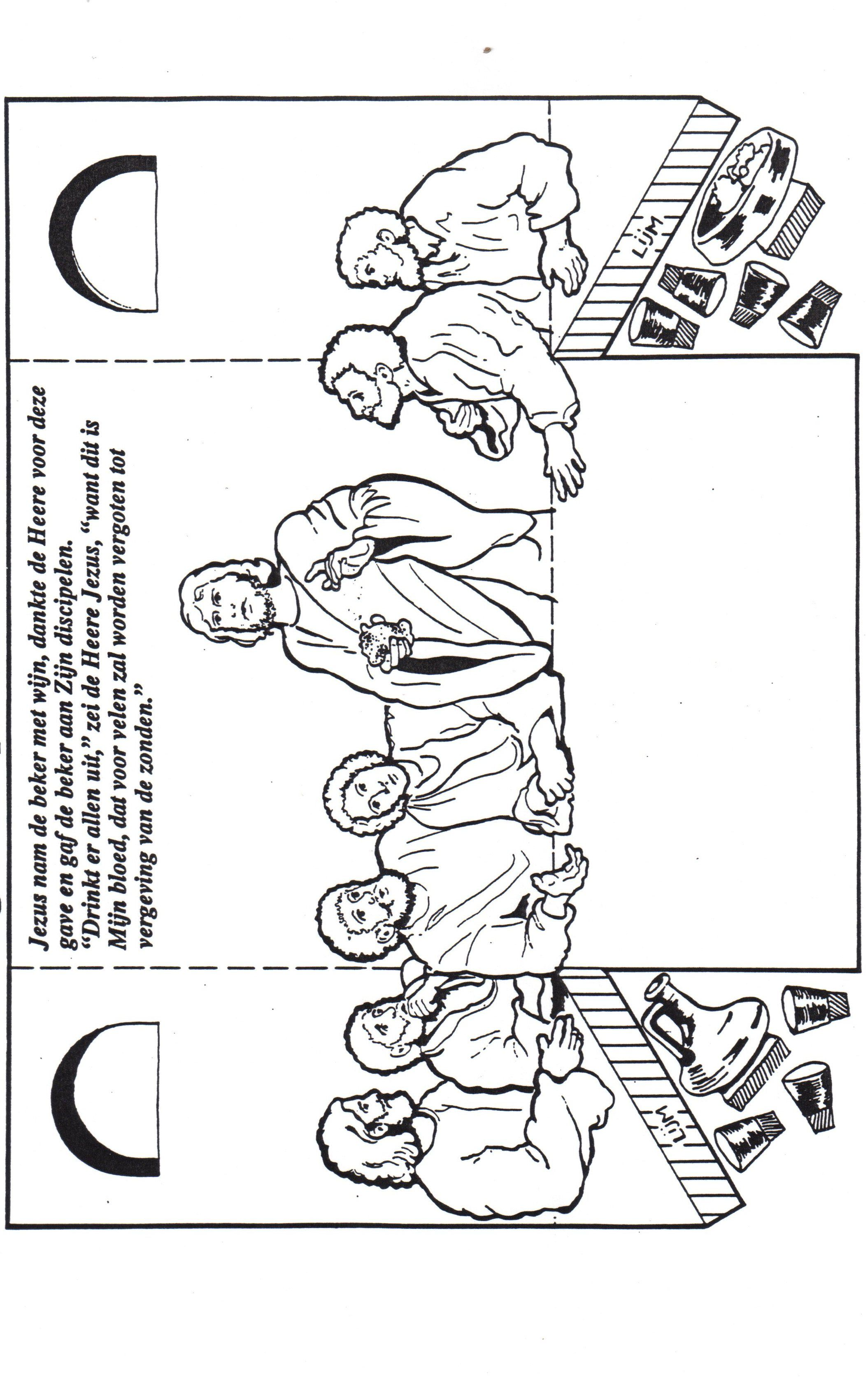 Printable coloring pages last supper - Find This Pin And More On Manualidad Catequesis The Last Supper