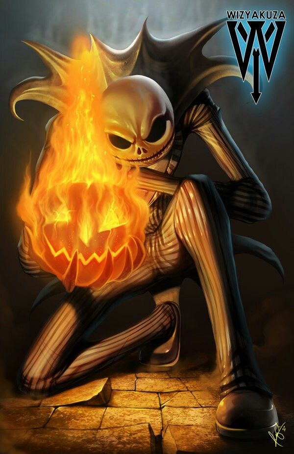The Pumpkin King Holding A Flaming Pumpkin Nightmare Before Christmas Jack The Pumpkin King Nightmare Before