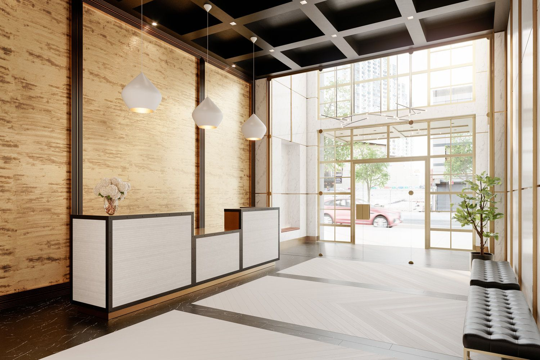 1 Flatbush Avenue Lobby Furnishing by Alchemy Studio