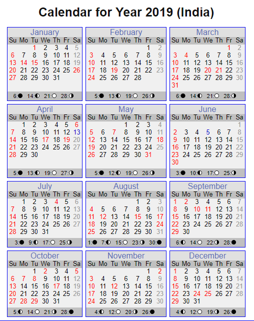 2019 Calendar Pdf India Calendars Pinterest Calendar 2019