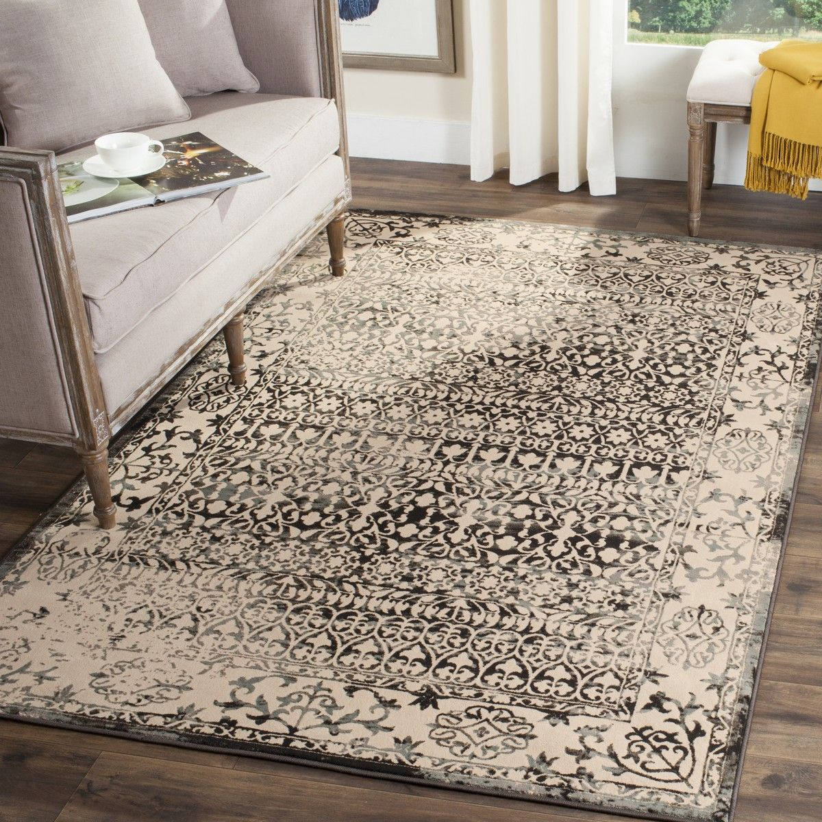 Rug Brl506k Brilliance Area Rugs By Safavieh Dark Gray Area Rug Area Rugs Grey Area Rug