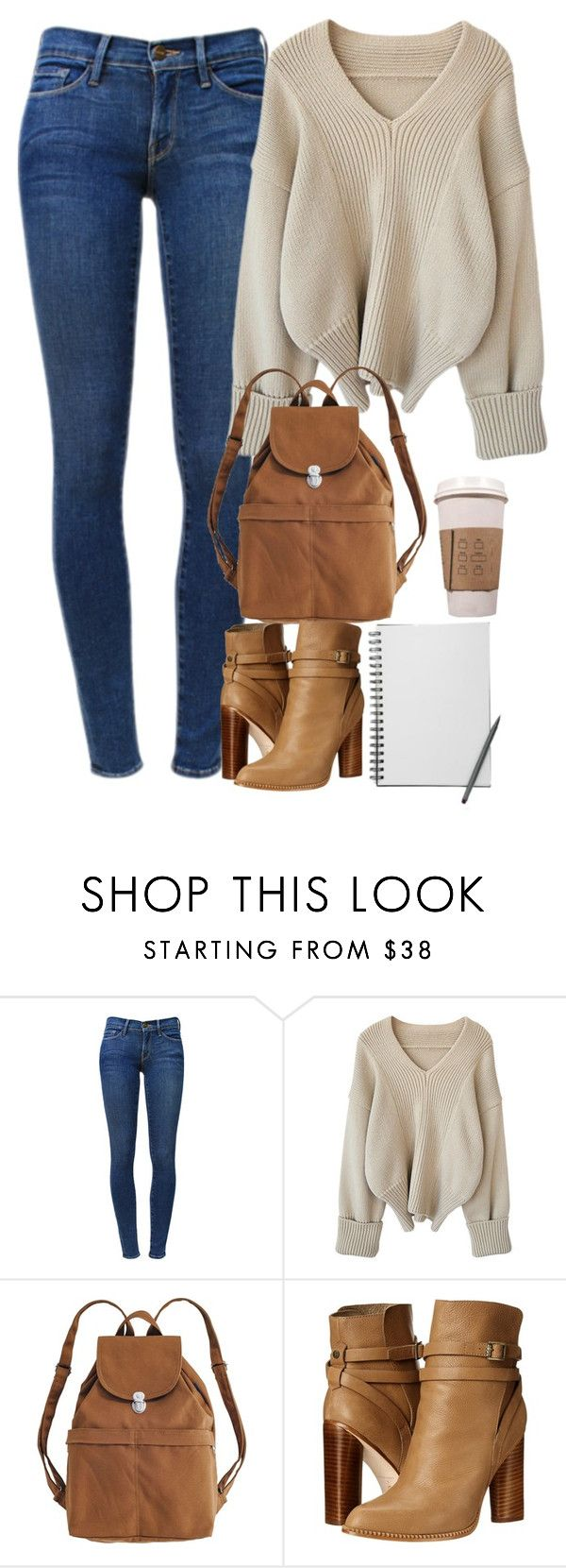 """(67)"" by maria-bss ❤ liked on Polyvore featuring Frame Denim, BAGGU and Cynthia Vincent"