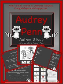 Audrey Penn The Kissing Hand Books Author Study With Powerpoint