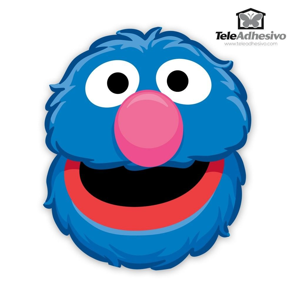 wall-stickers-for-kids-grover-face.jpg (1000×1000)   2nd ...