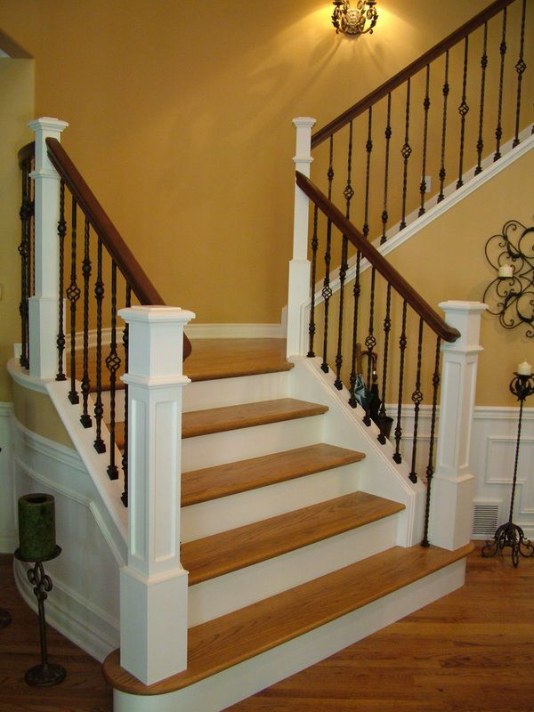 Build A Square Box For The Newel Post To Sit On Adjacent To The