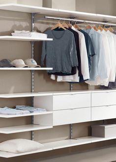 Begehbarer kleiderschrank regalsystem  Sehr übersichtliches Regalsystem zum Bau eines begehbaren ...