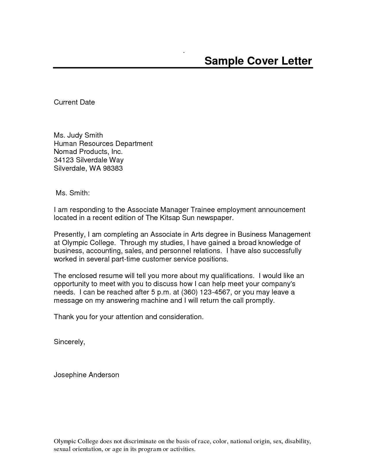 hotel management trainee cover letter sample resume for